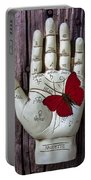 Palm Reading Hand And Butterfly Portable Battery Charger