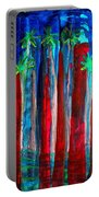 Palm Springs Nocturne Original Painting Portable Battery Charger