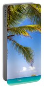 Palm Tree And Caribbean Portable Battery Charger