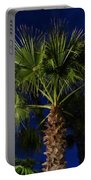 Palm Tree At Night Portable Battery Charger