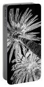 Palm Tree Black Portable Battery Charger