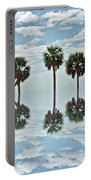 Palm Tree Reflection Portable Battery Charger
