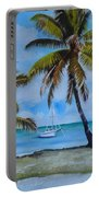 Palm Trees In The Keys Portable Battery Charger
