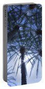 Palm Trees In The Sun Portable Battery Charger