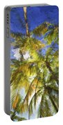 Palm Trees Of Aruba Portable Battery Charger