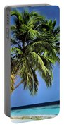 Palm Trees On Little Palm Island Filtered Portable Battery Charger