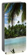 Palm Trees On The Beach, Rangiroa Portable Battery Charger