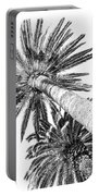 Palm Tree White Portable Battery Charger