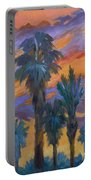 Palms And Sunset Portable Battery Charger