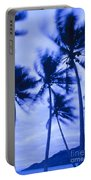 Palms In Storm Wind-bora Bora Tahiti Portable Battery Charger