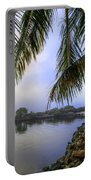 Palms Over The Waterway Portable Battery Charger