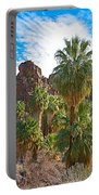 Palms Stand Tall In Andreas Canyon In Indian Canyons-ca Portable Battery Charger
