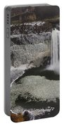 Palouse Falls In Winter Portable Battery Charger