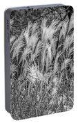 Pampas Grass Monochrome Portable Battery Charger