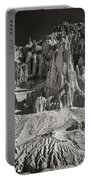 Panaca Sandstone Formations In Black And White Nevada Landscape Portable Battery Charger