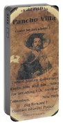 Pancho Villa Wanted Poster #1 For Raid On Columbus New Mexico 1916-2013 Portable Battery Charger