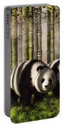 Pandas In A Bamboo Forest Portable Battery Charger