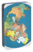 Pangaea Politica By Massimo Pietrobon Portable Battery Charger