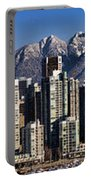Pano Vancouver Snowy Skyline Portable Battery Charger