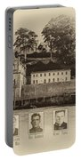 Panorama Alcatraz Infamous Inmates Sepia Portable Battery Charger