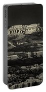 Panorama Bryce Canyon Storm In Black And White Portable Battery Charger