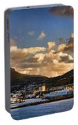 Panorama Cape Town Harbour At Sunset Portable Battery Charger