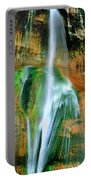 Panorama Lower Calf Creek Falls Escalante Nm Utah Portable Battery Charger
