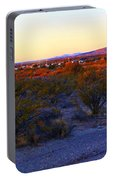 Panorama Morning View Of Mountains Portable Battery Charger