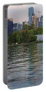 Panorama Of Coal Harbour And Vancouver Skyline At Dusk Portable Battery Charger