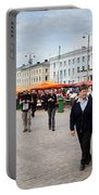Panorama Of Helsinki Inner Harbor Panorama Portable Battery Charger