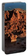 Panorama Of Hoodoos At Sunset Goblin Valley State Park Utah Portable Battery Charger
