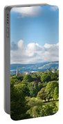 Panorama Of Phoenix Park And Wicklow Mountains Portable Battery Charger