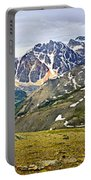 Panorama Of Rocky Mountains In Jasper National Park Portable Battery Charger