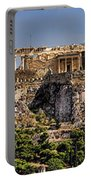 Panorama Of The Acropolis In Athens Portable Battery Charger