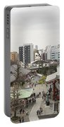Panorama Of The Senso Ji Temple In Tokyo Portable Battery Charger