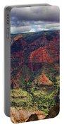 Panorama Of Waimea Canyon Hawaii Portable Battery Charger by David Smith