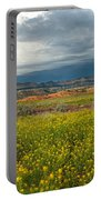 Panorama Striaght Cliffs And Rabbitbrush Escalante Grand Staircase  Portable Battery Charger
