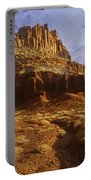Panorama The Castle On A Cloudy Morning Capitol Reef National Park Portable Battery Charger