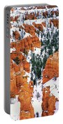 Panorama Winter Storm Blankets Thors Hammer And Bryce Canyon Portable Battery Charger