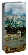 Panorama With The Abduction Of Helen Amidst The Wonders Of The Ancient World Portable Battery Charger