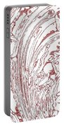 Panoramic Grunge Etching Burgundy Color Portable Battery Charger