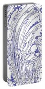 Panoramic Grunge Etching Royal Blue Color Portable Battery Charger