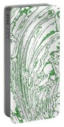 Panoramic Grunge Etching Sage Color Portable Battery Charger