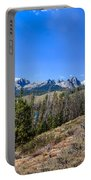 Panoramic Sawtooth Range And Little Redfish Lake Portable Battery Charger by Robert Bales