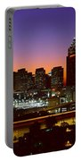 Panoramic View Of Atlanta Skyline Portable Battery Charger
