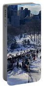 Panoramic View Of Ice Skating Wollman Portable Battery Charger