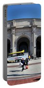 panoramic View of Union station in Washington DC Portable Battery Charger
