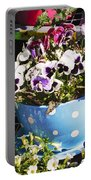 Cup Of Pansies Portable Battery Charger