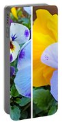 Pansies In Stereo Portable Battery Charger