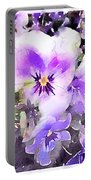 Pansies Watercolor Portable Battery Charger